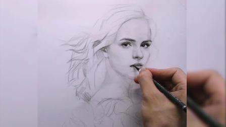 素颜美女,素描基础培训班教程,素描画好看易画,铅笔素描画人物怎么画零基础素描培训