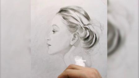 靓女,素描基础教程,素描画简单好看易画,铅笔画人物动物,素描画怎么画,素描视频