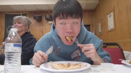 Vlog-69 美式披萨吃播