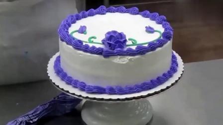 生日蛋糕裱花入门做法视频,漂亮的蛋糕是这样做出来的,快看看吧.mp4