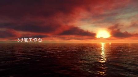 H19-10组海洋碧水蓝天白云风景延时动画背景素材.mp4