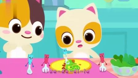 亲子儿童早教:小朋友记得要多吃蔬菜水果哦,这样营养才能均衡!.mp4