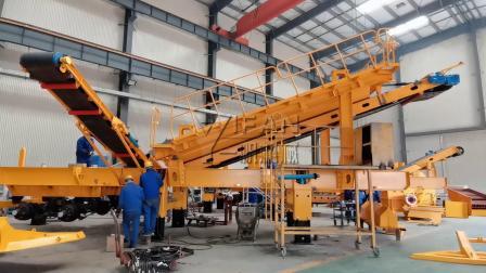 郑州一帆建筑垃圾处理生产线设备出厂前调试试机