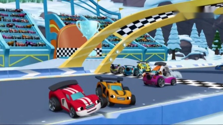 益智动画:飚速要去参加极地赛车比赛,还变成超酷赛车参加比赛.mp4