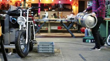 Bike Sidecar made from Beer Keg