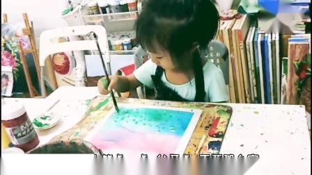 4岁女孩教你如何画画 出自北京一步画实验艺术 一步美术 儿童美术 少儿美术 创意绘画 传统文化 民族文化 家庭美育 手工 画画