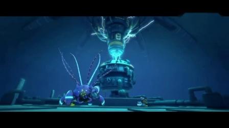 海底总动员:尼莫船长变邪恶了,章鱼大妈及时赶到,力敌千军.mp4