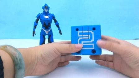 钢铁飞龙2奥特曼变形蛋玩具!数字方块变形合体机器人.mp4