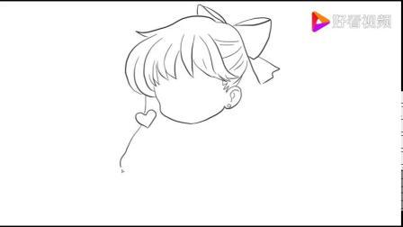动漫人物简笔画 少女:美少女战士金星动漫简笔画.mp4