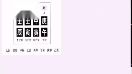 216四柱命理学精品中级提升课程木旺成势用火泄之富命.mp4