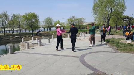 广场舞`郑霞夫妇二人共跳【东北的冬、东北的情】