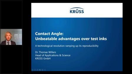 KRÜSS线上研讨会   接触角与测试液相比的优势