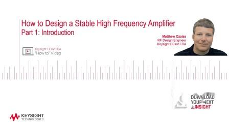第一部分:如何设计稳定的高频放大器