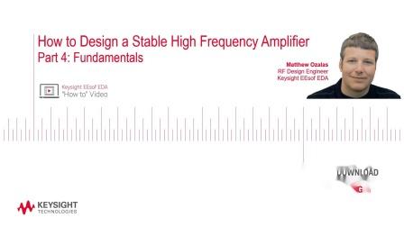 第四部分:如何设计稳定的高频放大器