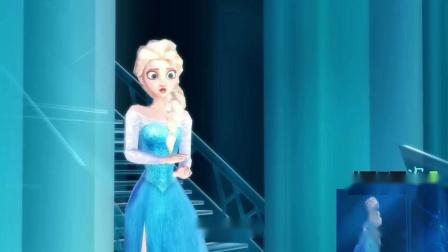 冰雪奇缘MMD:安娜到冰城堡找艾莎,两人再一次见面都万分感慨!.mp4