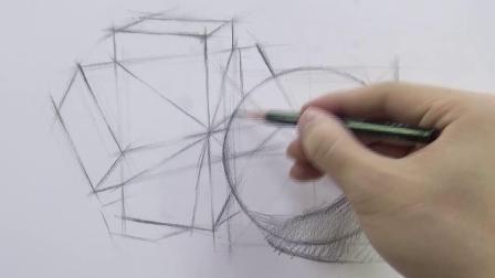 素描石膏几何体干货-组合结构训练⑧-五艺画室美术培训视频