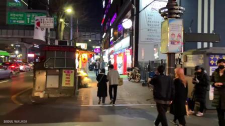 E画良品‖ 漫步夜晚的首尔 韩国建国大学周边街景 2020.3