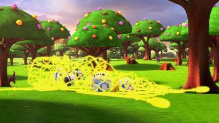 超级小熊布迷:哈哈!马克的超级网枪把小伙伴都抓住了!.mp4