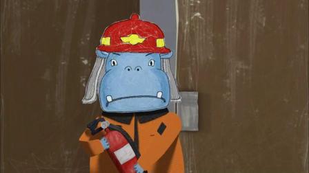 云彩面包:猫先生还没完成演讲,就去参加消防讲座.mp4