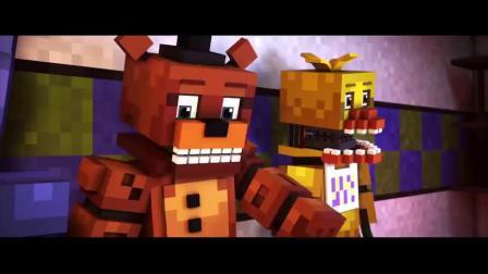 玩具熊午夜后宫:我的世界版动画片段,来关注我吧!.mp4
