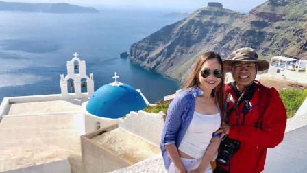 愛琴海聖托里尼島的一天