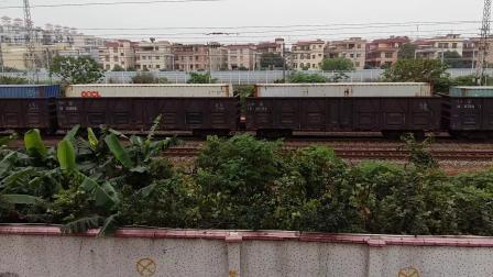广铁广段SS9G牵引沪广直达特快Z99次列车和广铁株段HXD1C牵引货车在广州北站附近相遇