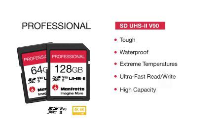 曼富图专业系列存储卡SD卡