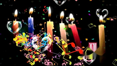 AM06210 祝你生日快乐蜡烛  生日快乐宴会儿童卡通蜡烛气球蛋糕 LED大屏幕舞台背景VJ视频素材