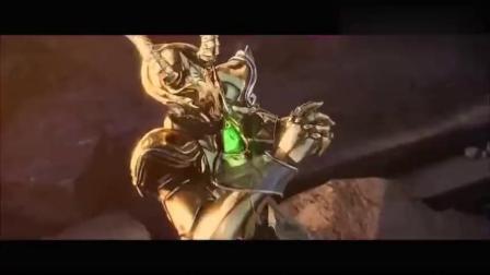 圣斗士星矢:六大黄金圣斗士巨型石像,超炫酷.mp4