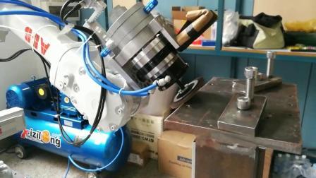 德锐机器人打磨气动夹头 小型气动夹具 自动化设备夹头