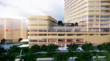 Enscape建筑动画小试-某医院室外动画-整体建筑水平平移漫游