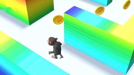 儿童卡通片:小猴子展开迷宫大冒险.mp4