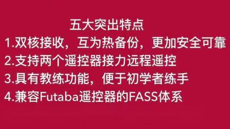 ASSAN FD10 FASST双余度10通道2.4G教练接收机