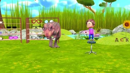 小男孩 测试动物视力 奖励漂亮眼镜 识颜色学英语 儿童早教卡通.mp4