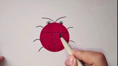 教你简单画瓢虫,一学就会哦.mp4