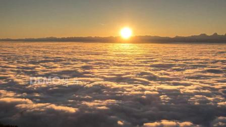 a612 4K画质震撼蓝天白云云海翻滚唯美晚霞云彩云层云端天空之上壮美大自然景色视频 歌舞晚会诗歌朗诵大屏幕舞台LED视频