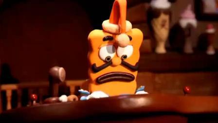 饼干警长:警长为了不让必达看到香蕉皮,自己把香蕉皮吃下去了.mp4
