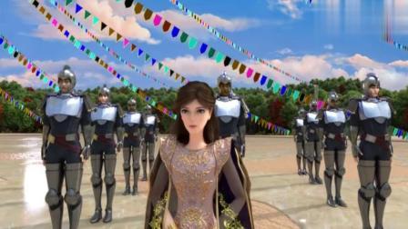 两个俏公主:鹰王带国人一起表演飞翔,不料红铃乘机偷取圣羽.mp4