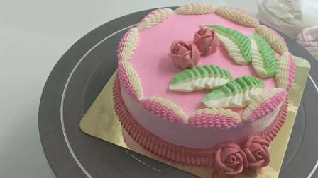 既简单又漂亮的母亲节蛋糕裱花-祝愿天下父母 健康长寿