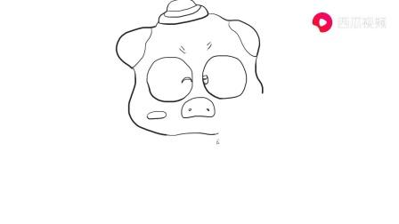 爱吃面包的卡通小猪儿童卡通简笔画.mp4