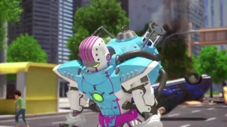 迷你特工队x弗特变身太帅了,对付外星人,有他就够了.mp4