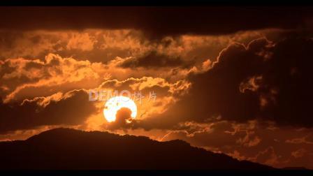 a785 2K画质超唯美壮观大气蓝天白云日出日落太阳升起云海翻腾流云金色彩霞延时摄影大自然景色 歌舞晚会表演led舞台背景视频