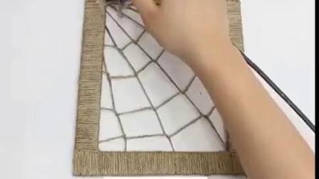 趣味小制作:小麻绳做装饰品.mp4