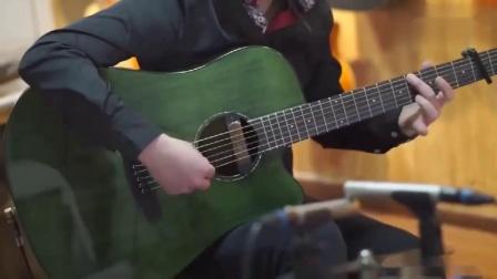 吉他指弹《千千阙歌)》人帅到有仙气,吉他还弹的一绝。_超清
