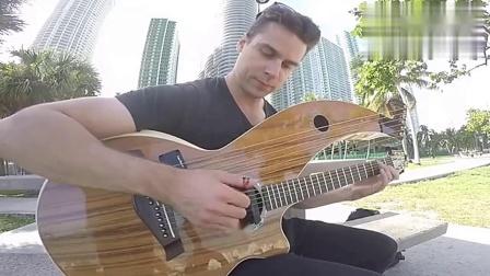 原来还有这种自带贝斯的吉他_超清