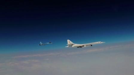 俄空天军Tu-160轰炸机例行巡航波罗的海遭遇多国空军战机伴飞