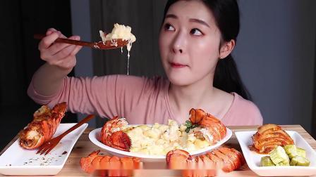 韩国吃播:海鲜市场采购,做意式奶油焗虾,味道好极了