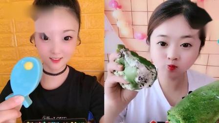 小美女吃播:果冻小鱼、抹茶毛巾卷,一口超过瘾,我向往的生活