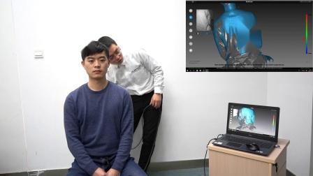 iReal彩色三维扫描仪人体半身像快速扫描-思看科技