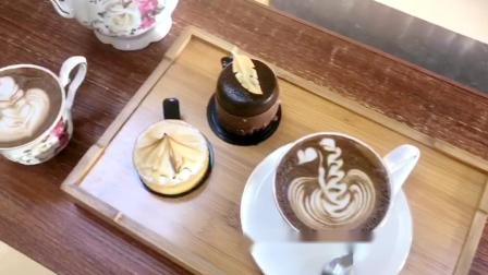 下午茶 咖啡拉花配西点蛋糕慕斯  学咖啡拉花 学西点蛋糕培训